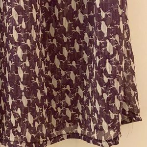 Adorable blouse w/birds on branches
